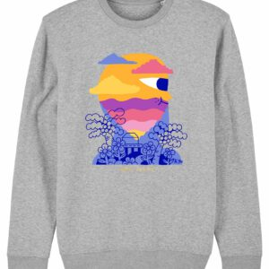Hedof_Face_This_sweater_Heather_Grey_Packshot_Front_Main_LR